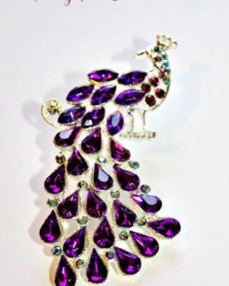 9a6cc6cad3a5e Vintage Rhinestone Emerald Crystal Blue Green Bird Pin Brooch ...